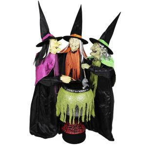 5.5 ft. Animated Cauldron Trio