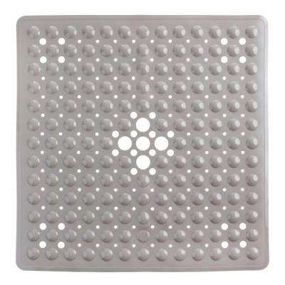 21 in. x 21 in. Square Shower Mat in Tan