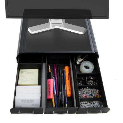 Perch PC, Laptop, IMAC Monitor Stand and Desk Organizer in Black