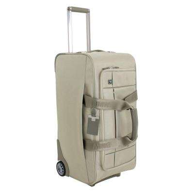 26 in. Champagne Wheeled Duffel Suitcase