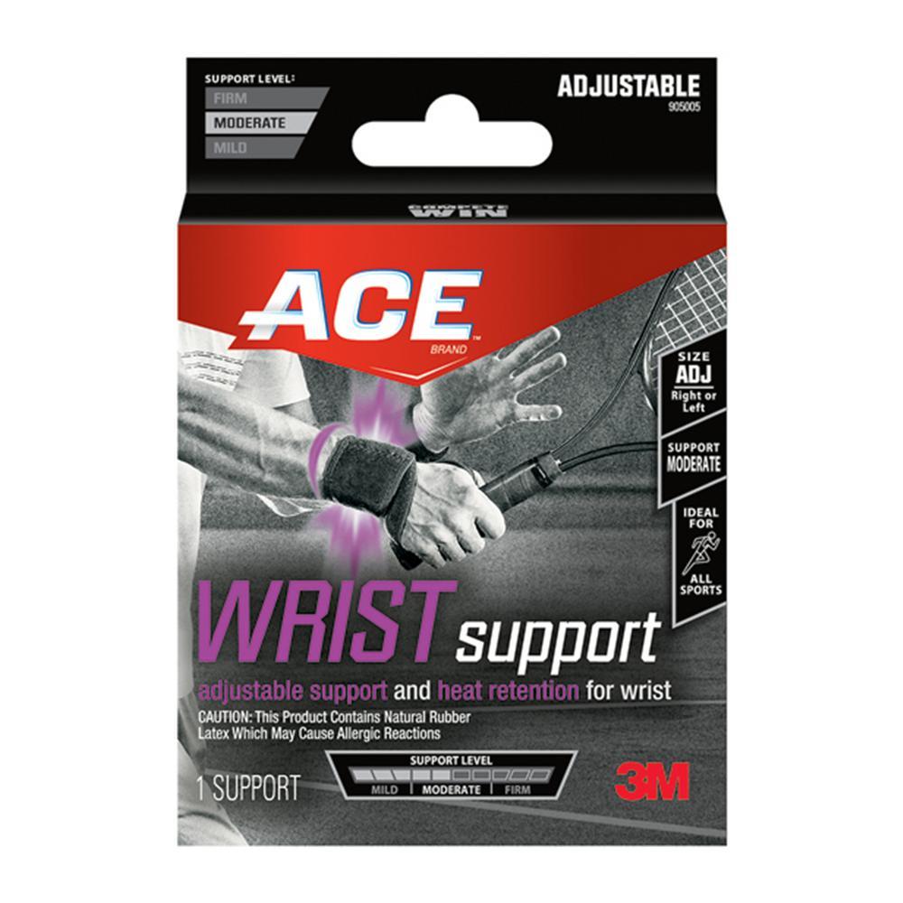 Adjustable Wrist Support Brace in Black