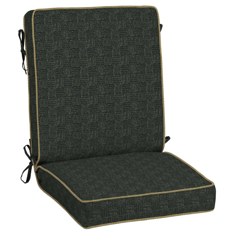 Tangier Stitch Snap Dry Outdoor Dining Chair Cushion