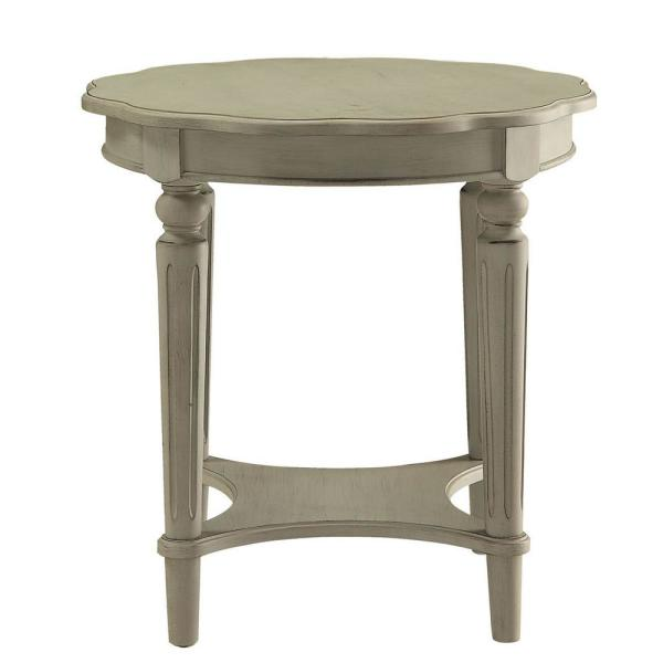 Fordon Gray with Antique Slate Finish End Table