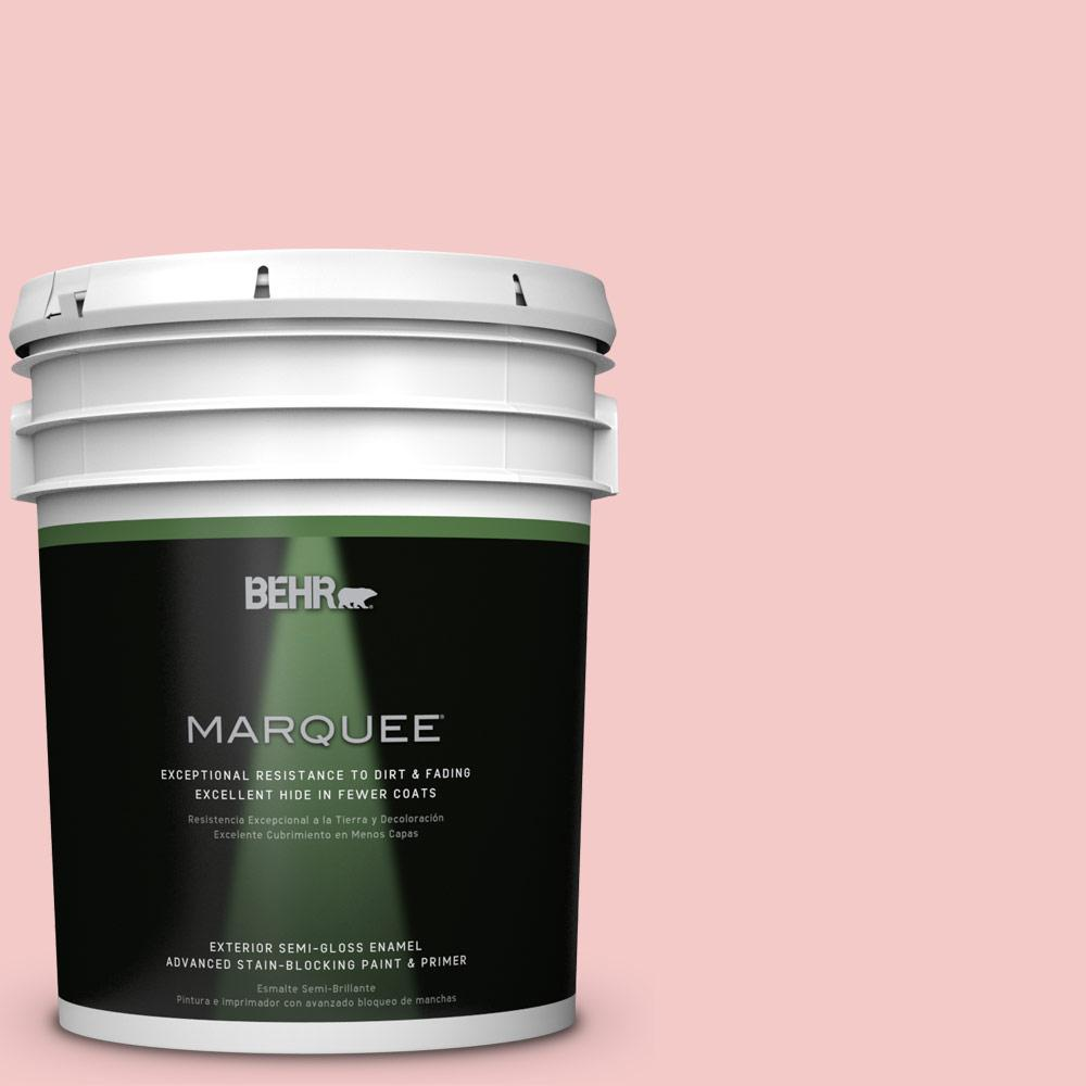 BEHR MARQUEE 5-gal. #T12-20 First Peach Semi-Gloss Enamel Exterior Paint