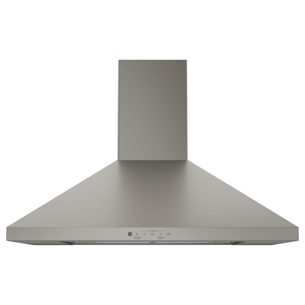 GE 30 in. Convertible Chimney Range Hood in Slate, Fingerprint Resistant