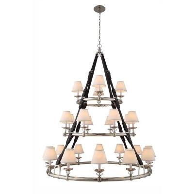 Cascade 24-Light Polished Nickel Pendant Lamp