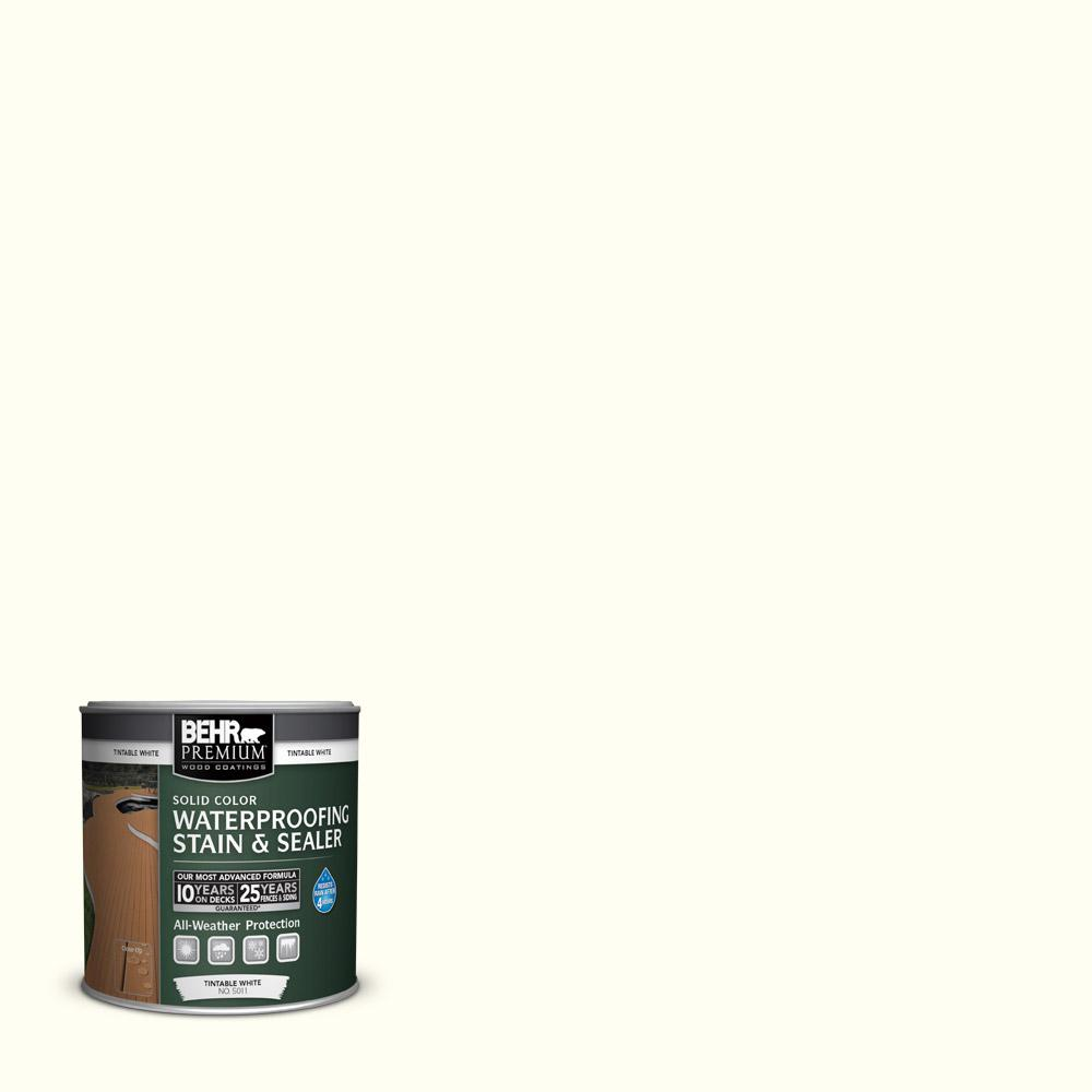 8 oz. #SC-337 Pinto White Solid Color Waterproofing Stain and Sealer