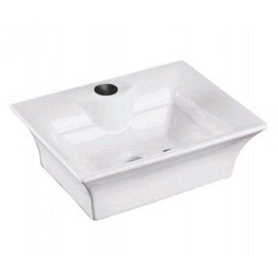 Above Counter Bathroom Sink in White