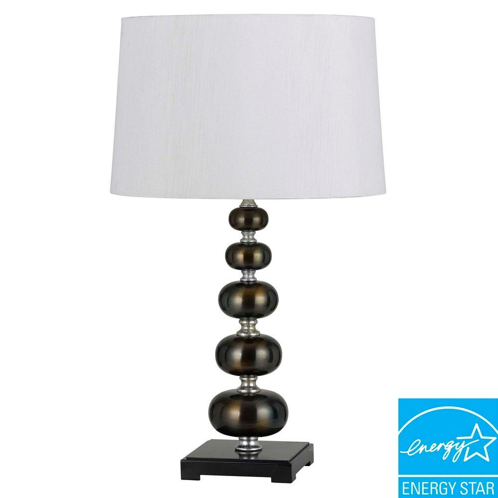 CAL Lighting Pisa 26 in. Metallic and Bronze Table Lamp
