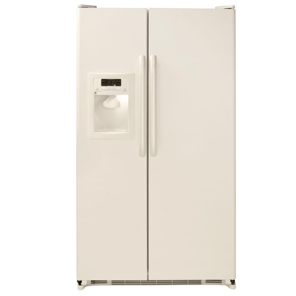 GE 25.3 cu. ft. Side by Side Refrigerator in Bisque