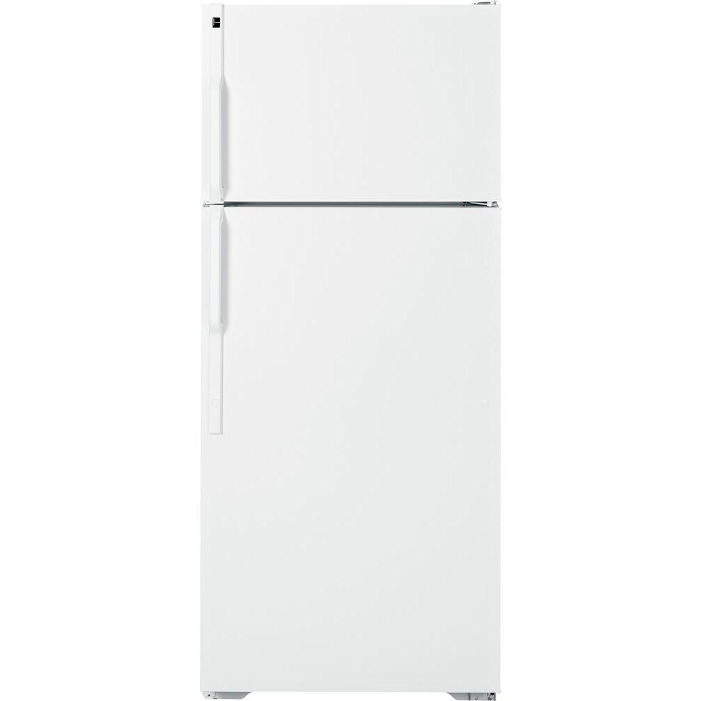 Hotpoint 28 in. W 18.1 cu. ft. Top Freezer Refrigerator in White