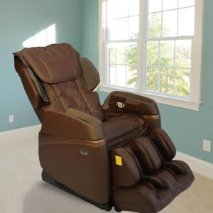 TITAN Osaki Brown Faux Leather Reclining Massage Chair OS 3700BROWN   The  Home Depot