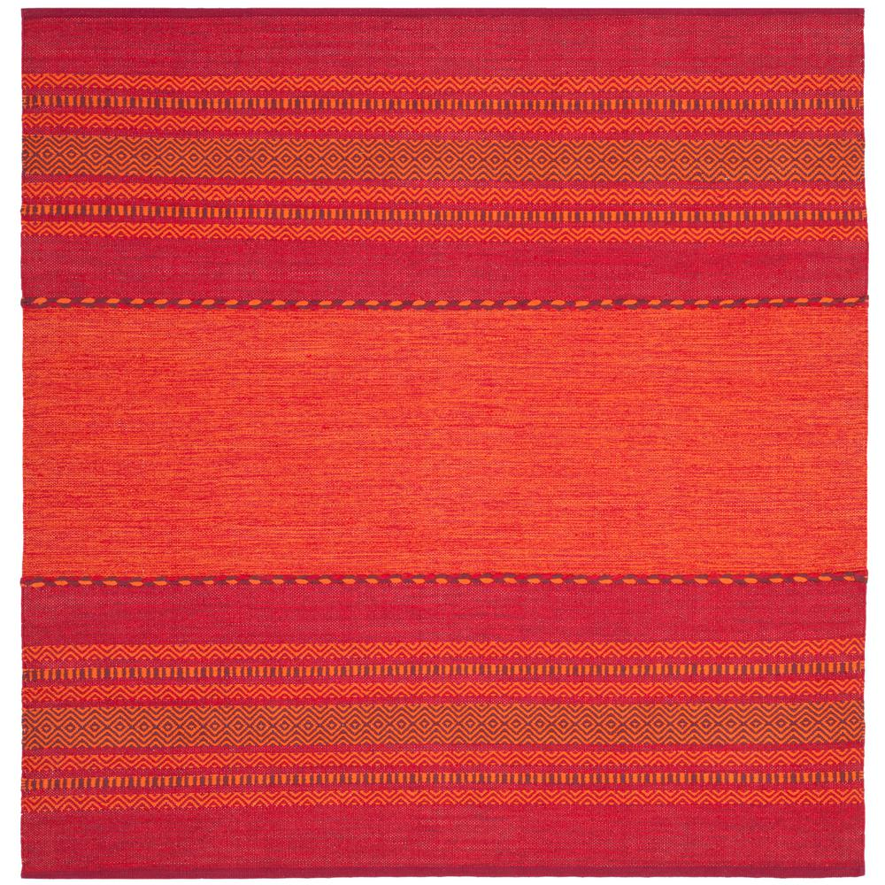 Safavieh Montauk Orange Red 6 Ft X Square Area Rug