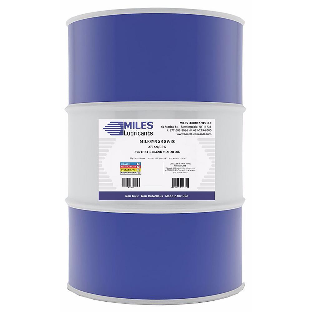 Milesyn SB 5W30 API GF-5/SN 55 Gal. Synthetic Blend Motor Oil Drum