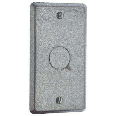 1-Gang Metal Electrical Box Cover with 1/2 in. Knockout