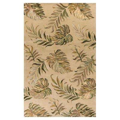 Palm Tropic Sand 2 ft. 6 in. x 4 ft. 2 in. Area Rug