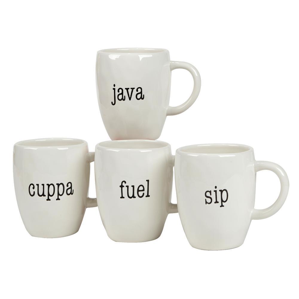 It's Just Words 4-Piece Multi-Colored 20 oz. Mug Set