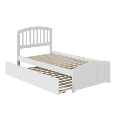 Richmond Twin Extra Long Bed with Matching Footboard and Twin Extra Long Trundle in White