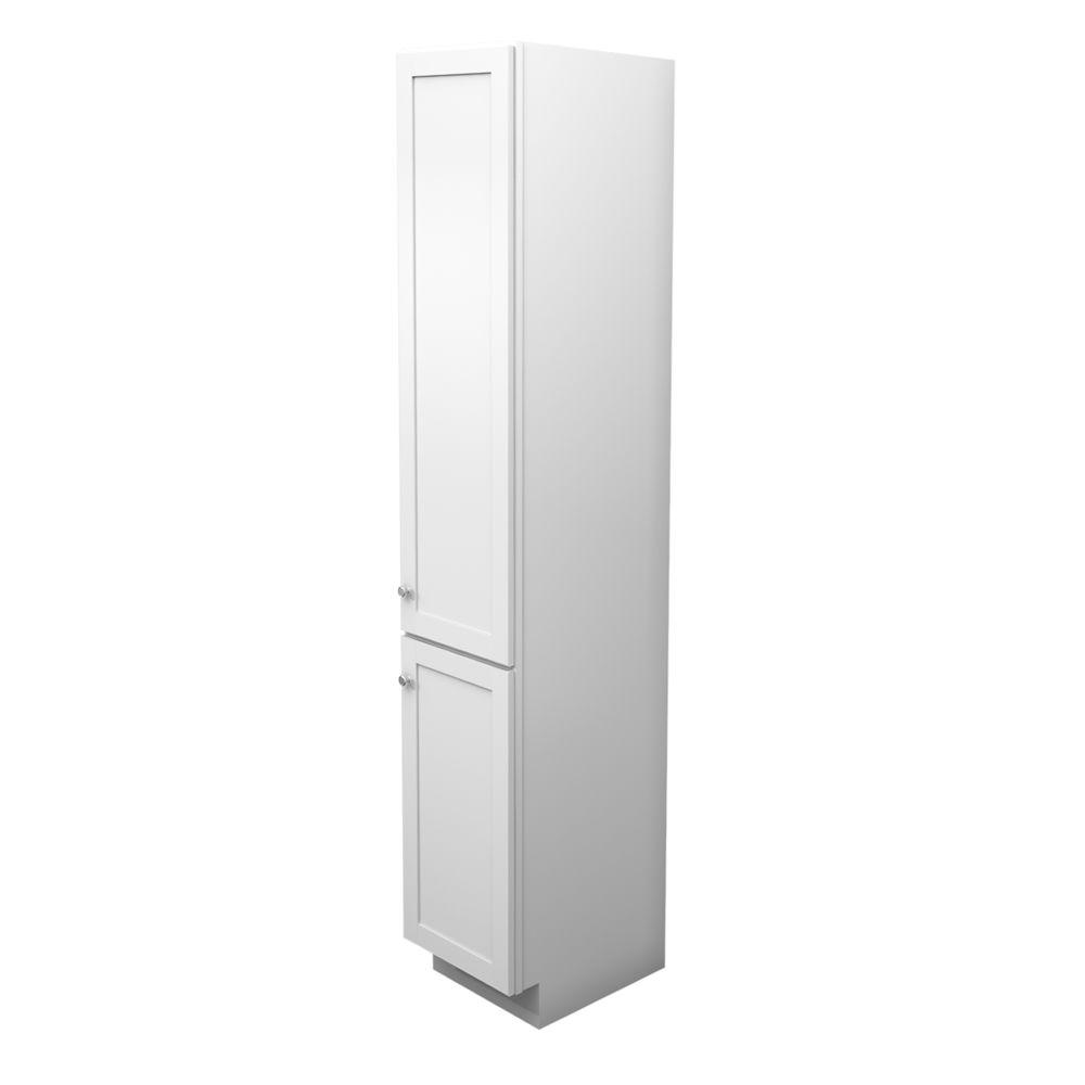 Kraftmaid 18 In W X 88 1 2 In H X 21 In D Vanity Bathroom Linen Storage Tower Cabinet In Dove White Vlc182188l The Home Depot