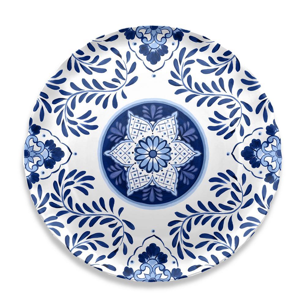 Cobalt Casita Melamine Round Platter