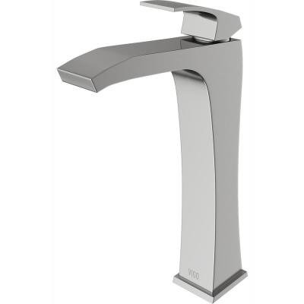 Blackstonian Single Hole Single-Handle Vessel Bathroom Faucet in Brushed Nickel