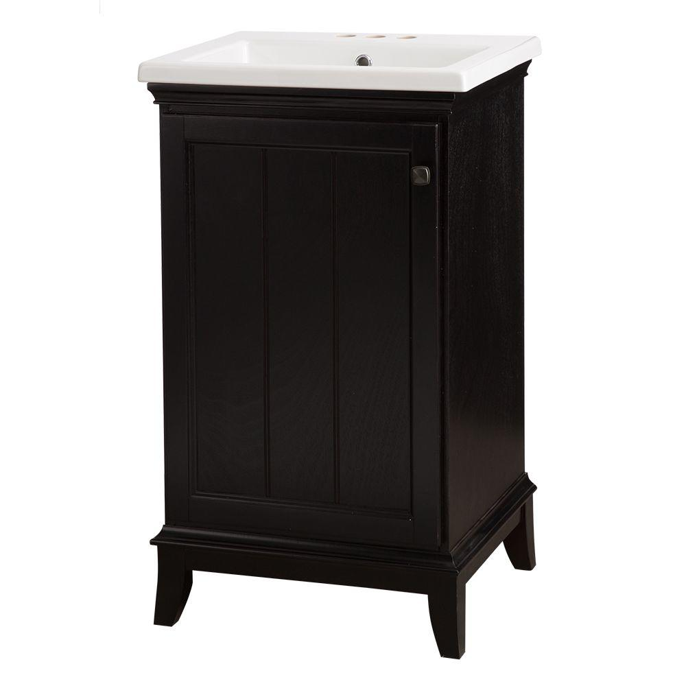 Perfect Dunsby 20 1/2 In. Vanity In Espresso With Vitreous China Vanity Top