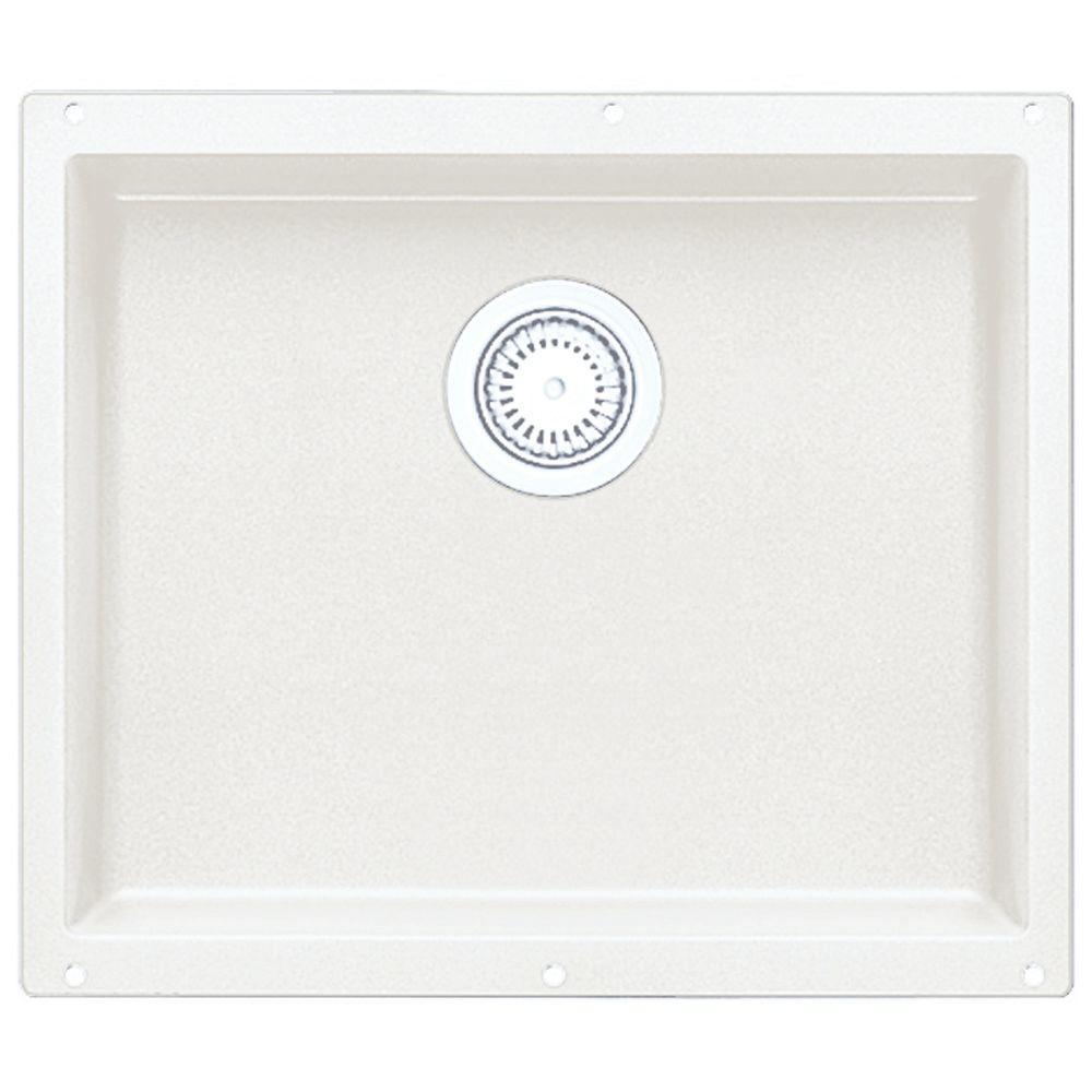 Blanco Precis Undermount Granite 21 In. Single Bowl Kitchen Sink In White