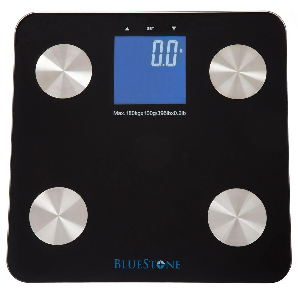 Digital Large LCD Display Body Fat Scale in Black