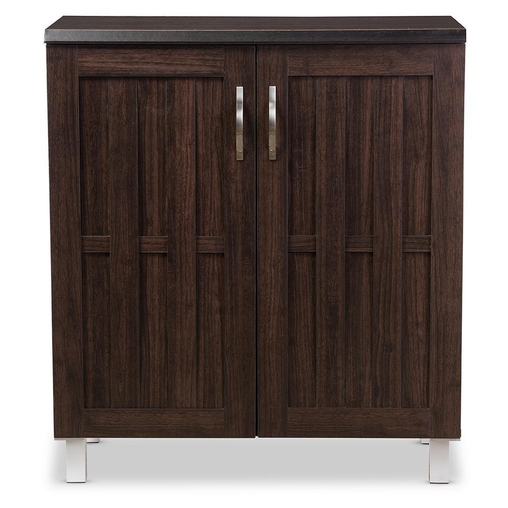 Baxton Studio Excel Dark Brown Storage Cabinet 28862-6498-HD