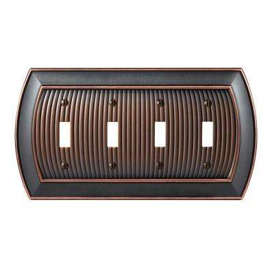 Sea Grass 4-Toggle Wall Plate, Oil-Rubbed Bronze
