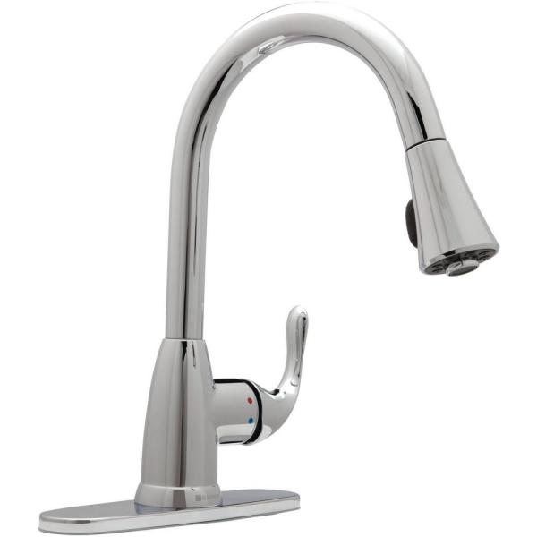Market Single-Handle Pull-Down Sprayer Kitchen Faucet in Chrome