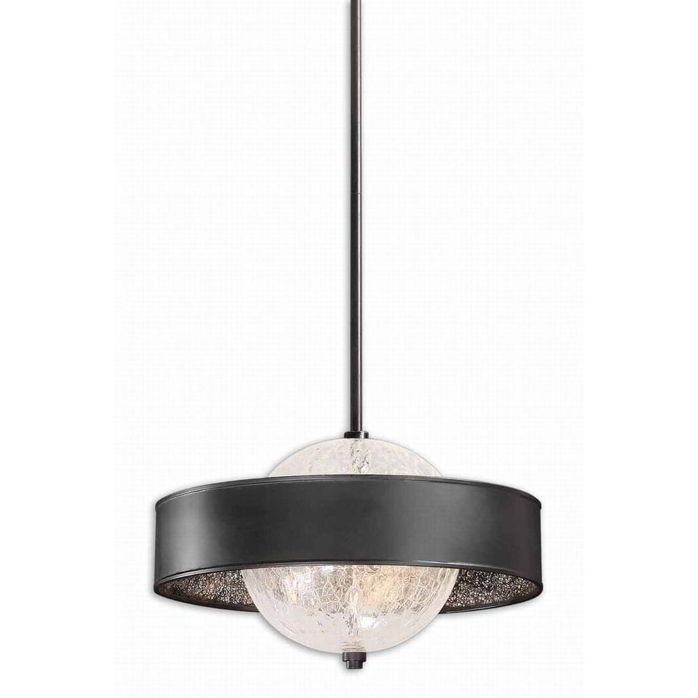 Global Direct Rimini 3-Light Black Hanging Pendant-DISCONTINUED