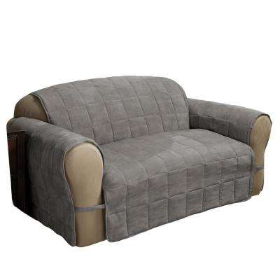 Ultimate Faux Suede Gray Sofa Protector