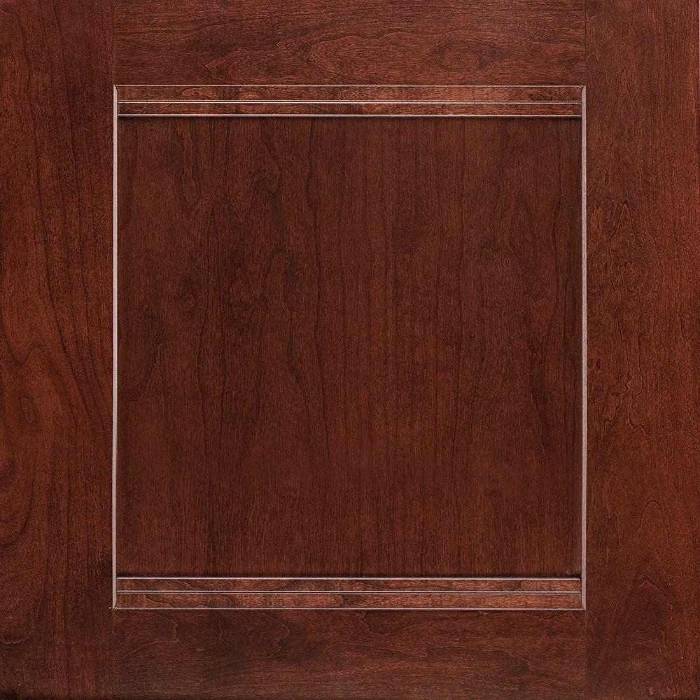 American woodmark 14 1 2 in x 14 9 16 in cabinet door for Cherry bordeaux kitchen cabinets