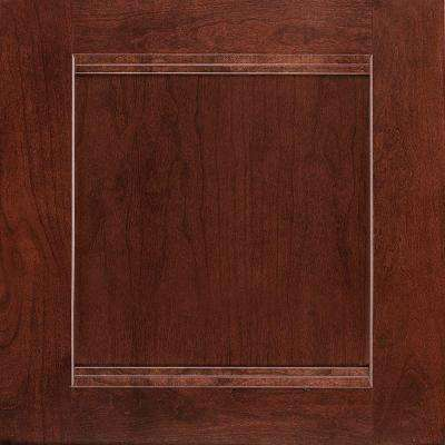 14-1/2x14-9/16 in. Cabinet Door Sample in Del Ray Cherry Bordeaux
