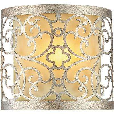 Alexandra 1-Light Rubbed Silver Sconce
