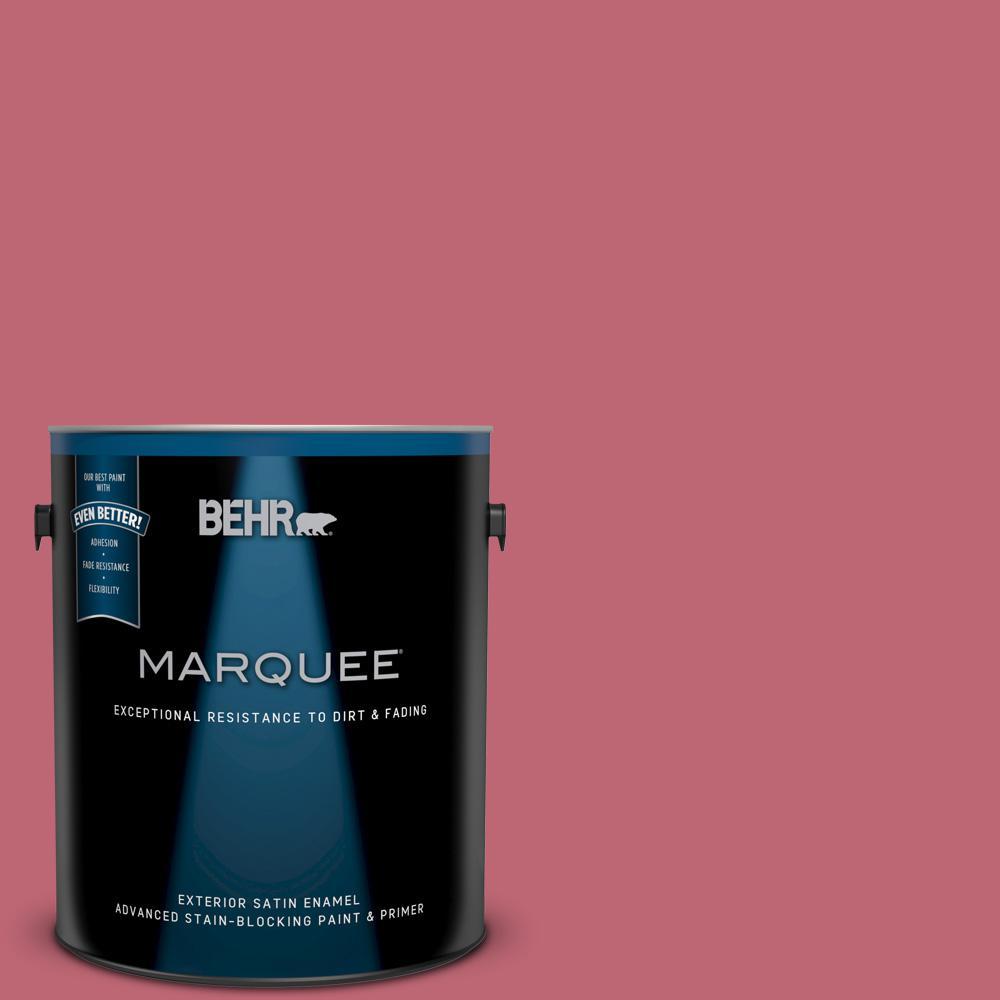 BEHR MARQUEE 1 gal. #M140-5 Cherry Fizz Satin Enamel Exterior Paint ...