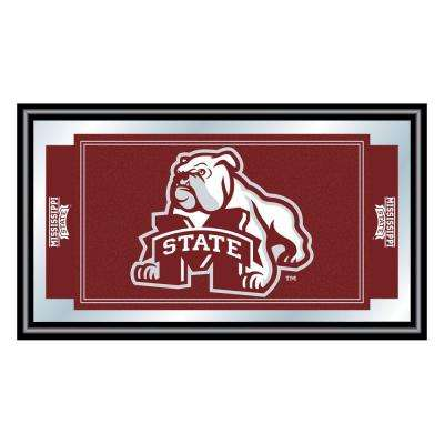 Mississippi State University 15 in. x 26 in. Black Wood Framed Mirror