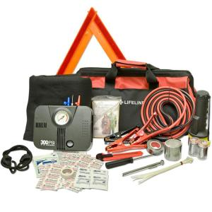 Lifeline 67-Piece DOT Emergency Road Safety and First Aid Kit by Lifeline