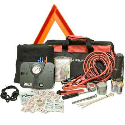 67-Piece DOT Emergency Road Safety and First Aid Kit