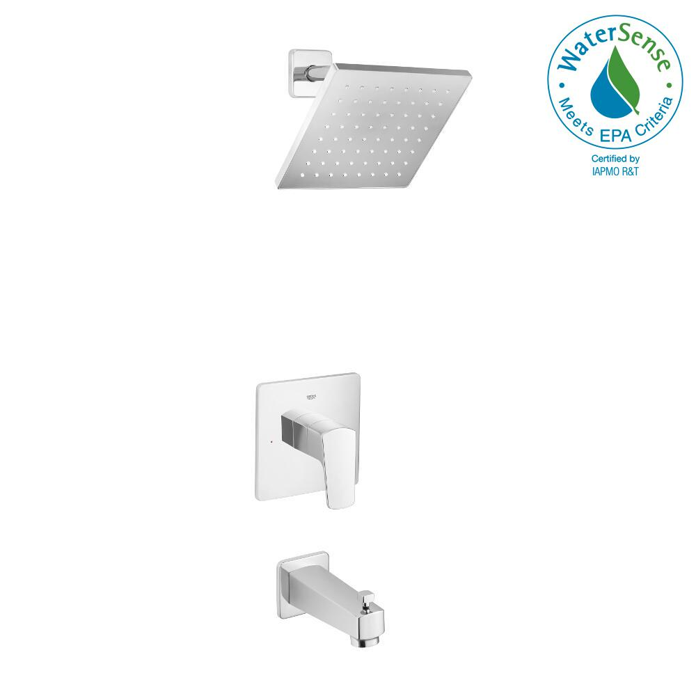 GROHE Tallinn Single-Handle 1-Spray Tub and Shower Faucet in ...