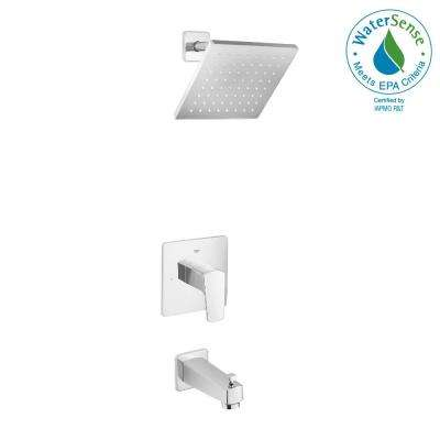 Tallinn Single-Handle 1-Spray Bathtub and Shower Faucet in Starlight Chrome (Valve Included)
