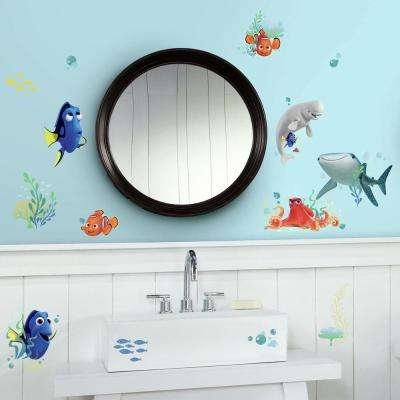 5 in. W x 11.5 in. H Finding Dory 19-Piece Peel and Stick Wall Decal