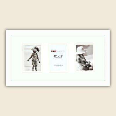 3-Opening 4 in. x 6 in. Matted White Photo Collage Frame (Set of 2)