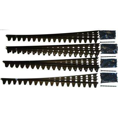 Flexi-Pro 48 in. x 2.25 in. x 1.75 in. Black PVC Paver Edging - 96 ft. (24-Pieces of 48 in) Pro Grade with 96-Spikes