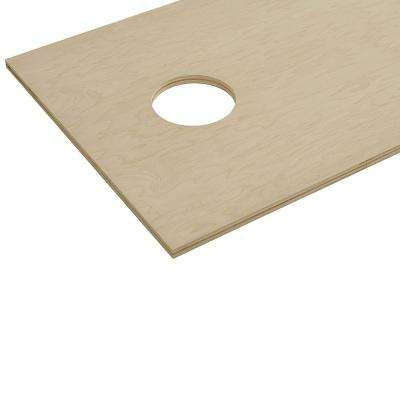 3/4 in. x 2 ft. x 4 ft. Maple Plywood Corn Hole Board Top