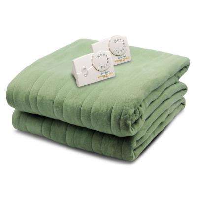 1004 Sage in color, King Size 100 in. x 90 in. Blanket