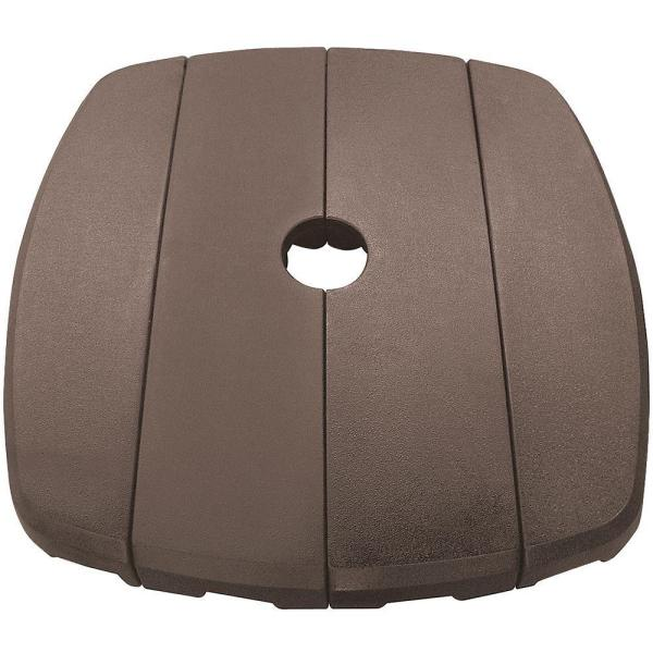 39.5 in. W Resin Cantilever Patio Umbrella Base Weight in Bronze