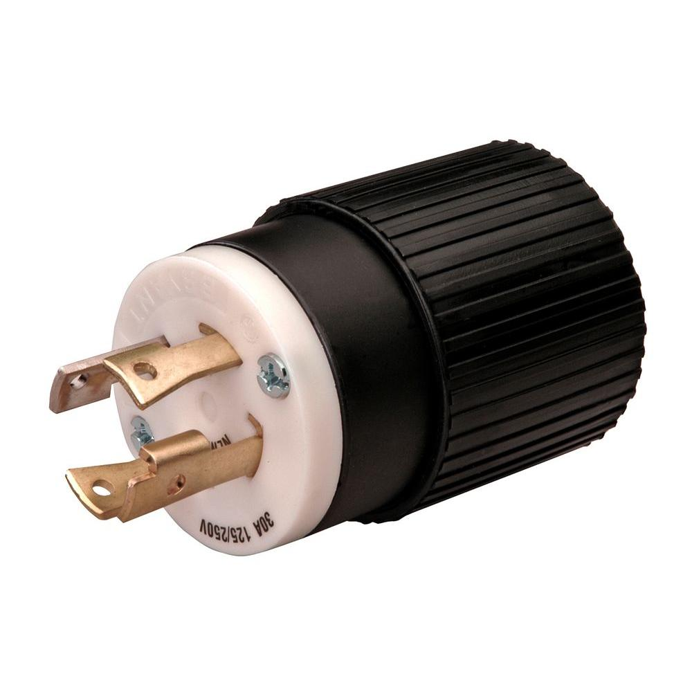 black reliance controls plugs connectors l1430p 64_1000 reliance controls twist lock 30 amp 125 250 volt plug l1430p the hbl2721 wiring diagram at bayanpartner.co