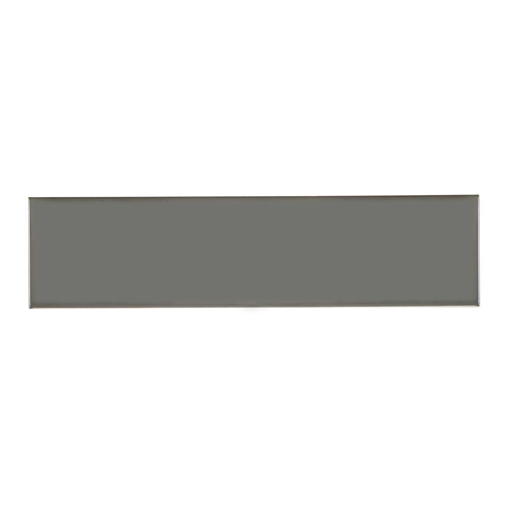 Tundra 4 in. x 16 in. Beveled Marble Wall Tile